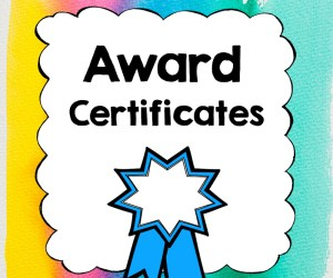New Award Certificates!
