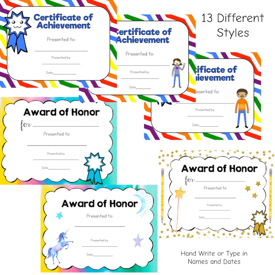 Award Certificates Bundle