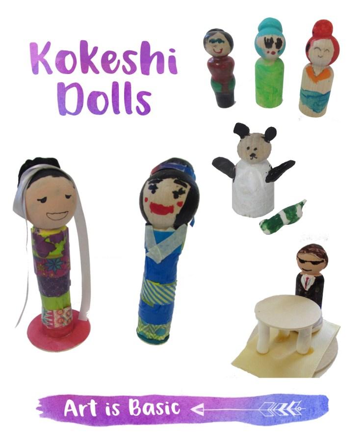 Kokeshi Dolls Kids Art Project
