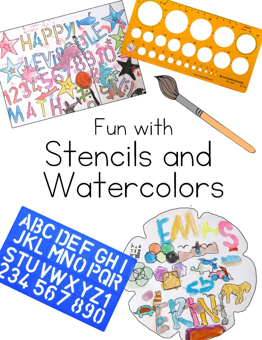 Fun with Stencils and Watercolors