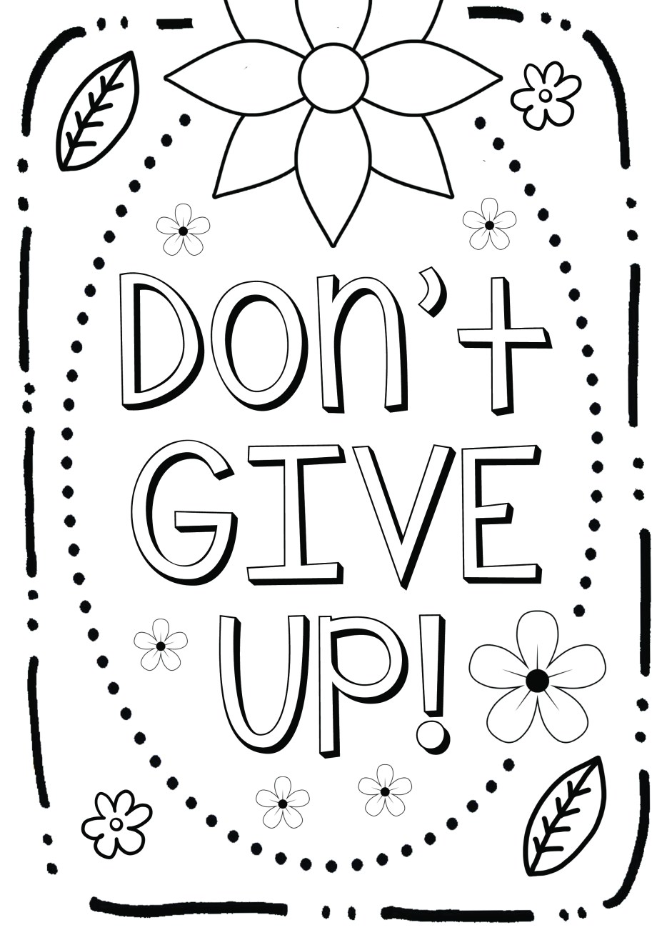 Free Coloring Page: Growth Mindset – Art is Basic | An