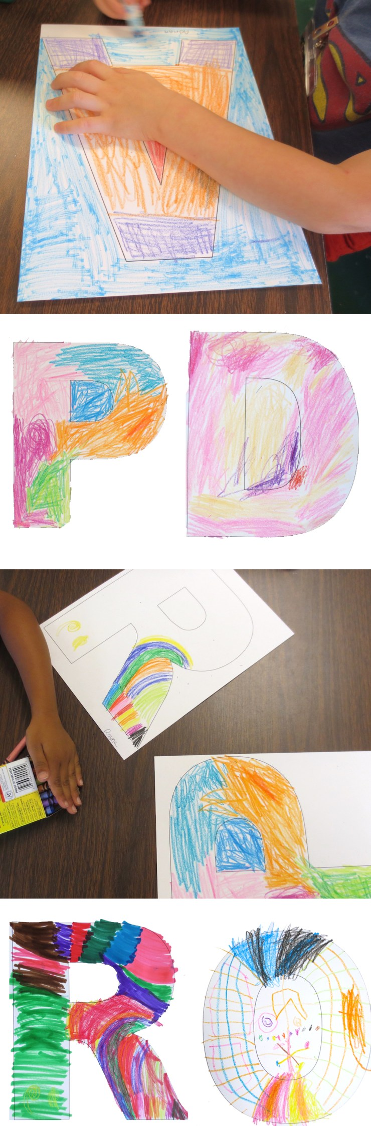 Letter Art for Kindergarten