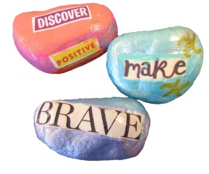 Painted Rocks with Magazine Words00003