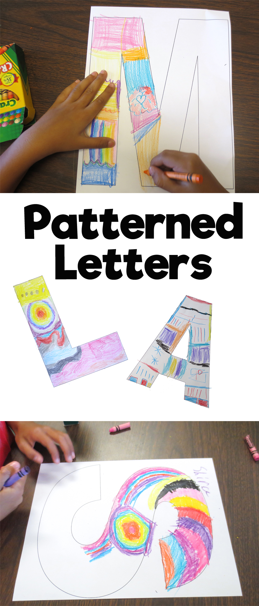 Patterned Letters Art Project