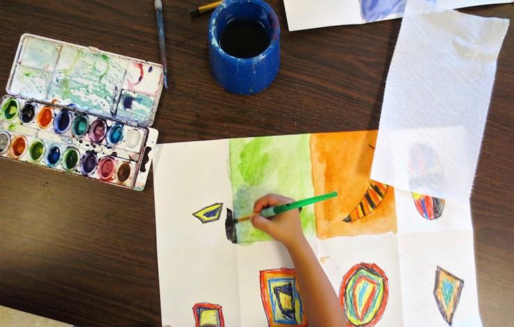 Kindergarten Shape Art Project00002