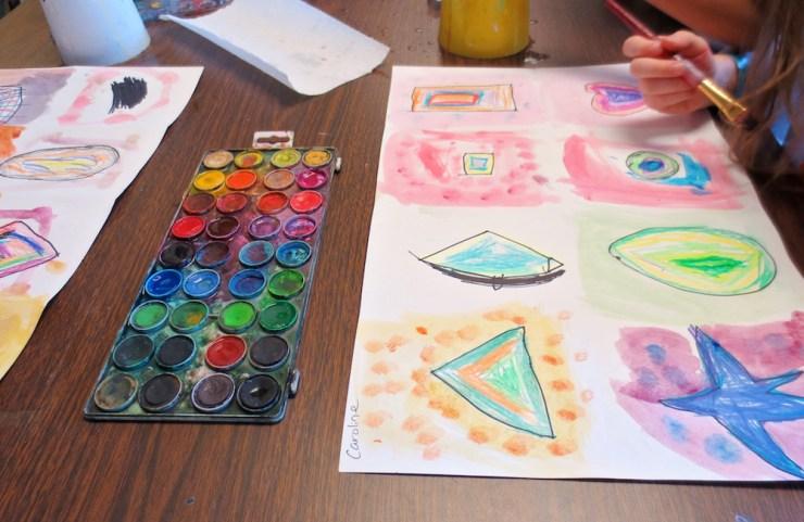 Kindergarten Shape Art Project00008