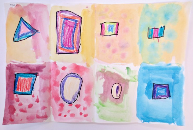 Watercolor Shape Picture by Kinder