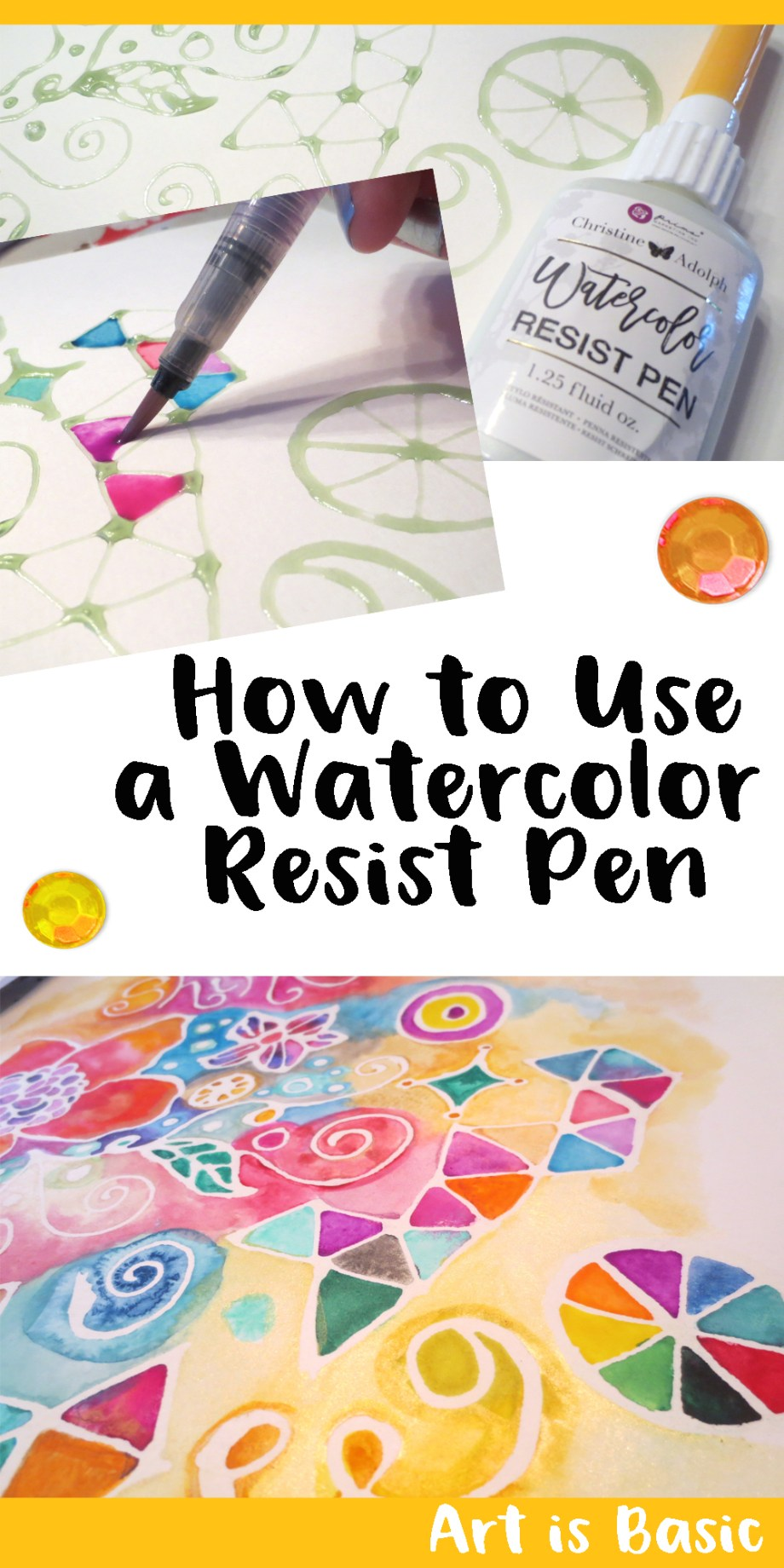 creating white space with watercolor resist pens art is basic an