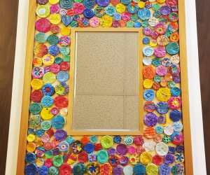 Class Project for Auction:  Clay Mosaic Mirrors