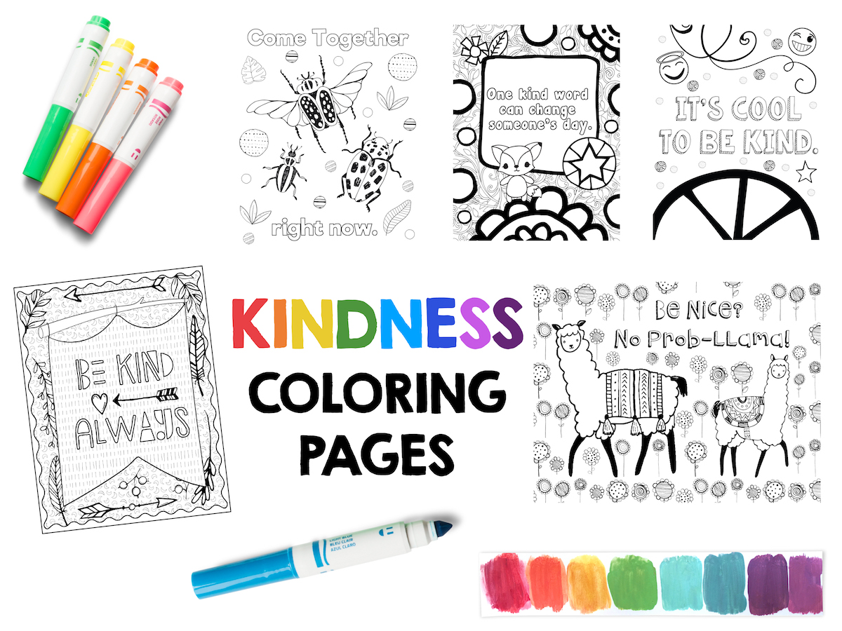 Kindness Coloring Pages Free Sample Page Art is Basic An