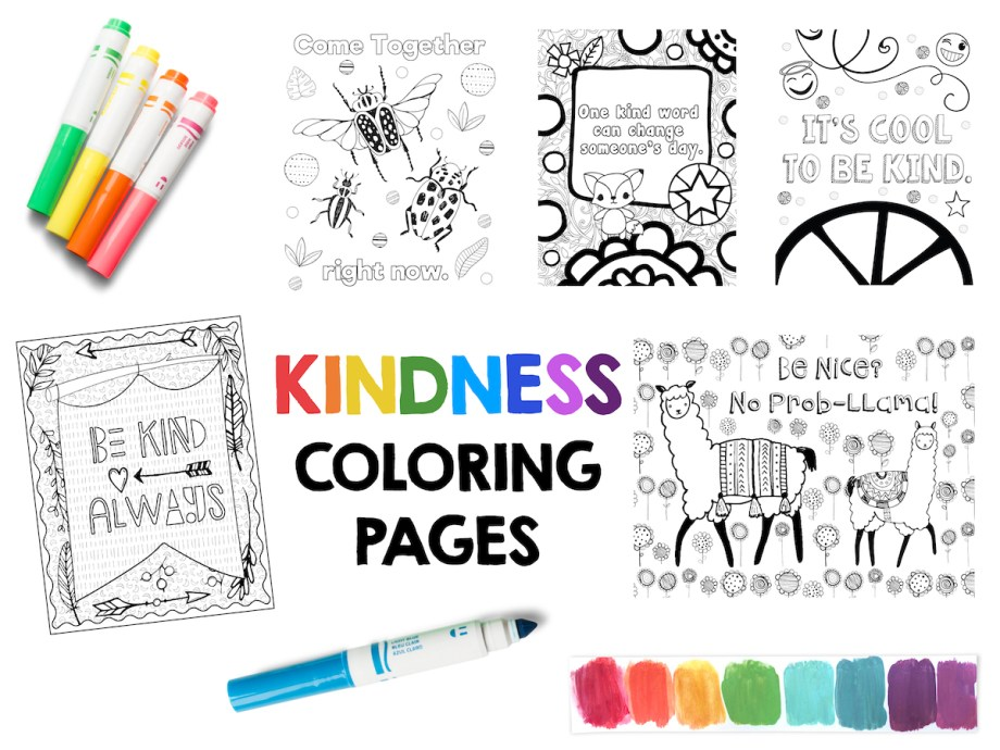 Kindness Coloring Pages: Free Sample Page! – Art is Basic | An ...