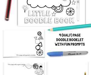 New Products in Shop:  Little Doodle Sketchbook & More!