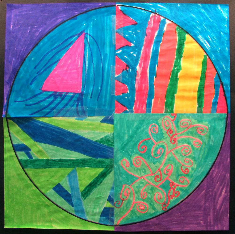 Collaborative Dot Day Art Project – Art is Basic   An Elementary Art ...