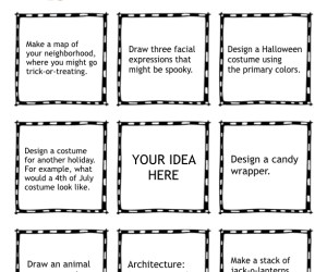 Halloween Themed Choice Menu