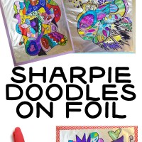 Sharpie Drawings on Tin Foil