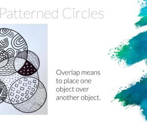 Distance Learning Art:  Patterned Circles