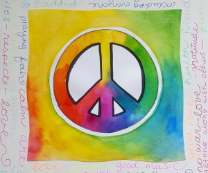 Peace Sign Art with Kids