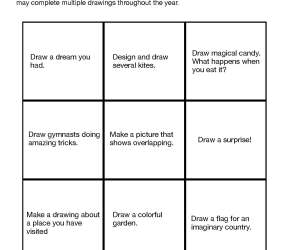 Art Choice Board for Elementary Subs
