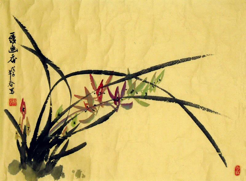 "A Chinese Painting entitled ""A Stream of Delicate Fragrance"" 「一縷幽香」"