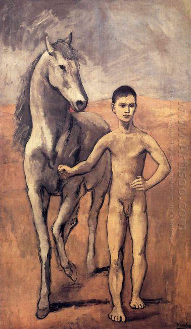 Boy Leading A Horse 1906