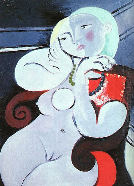 Female Nude Sitting In Red Armchair 1932