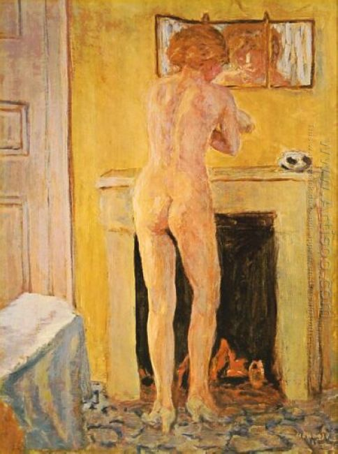 Nude At The Fireplace 1913
