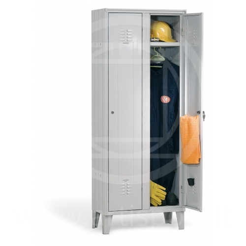 Locker room accessories, metal locker