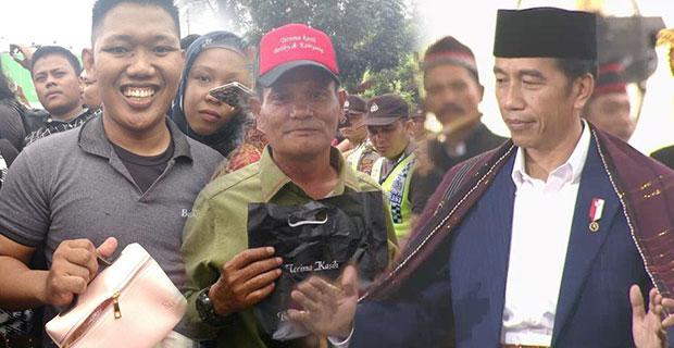 Bertolak ke Medan, Presiden Jokowi Bagi Suvenir di Acara Kirab Kahiyang - Bobby