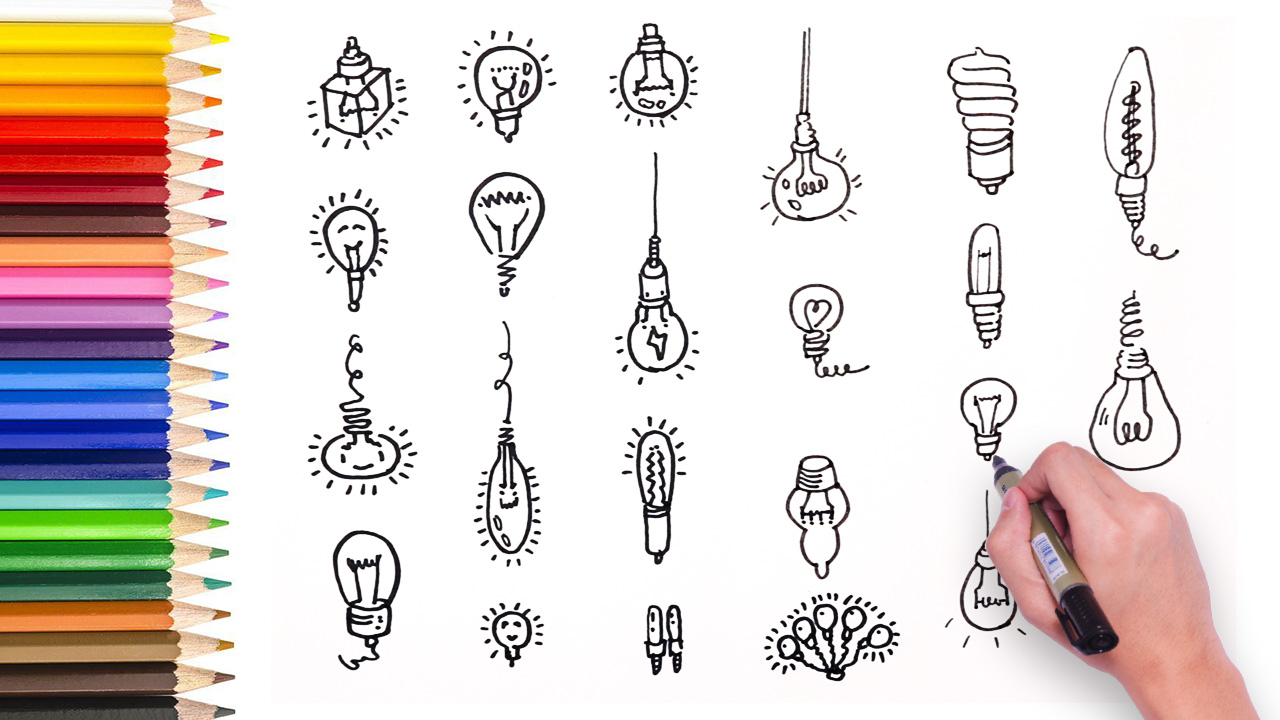 Learn How To Draw Different Light Bulb Artist