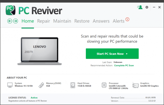 ReviverSoft-PC-Reviver corregir bloqueos de windows pc reviver full mega zippyshare corregir errores windows
