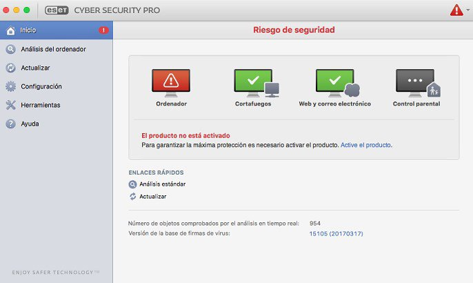 MAC OSX - ESET Cyber Security PRO 6.6 ANTIVIRUS PARA MAC OS X GRATIS