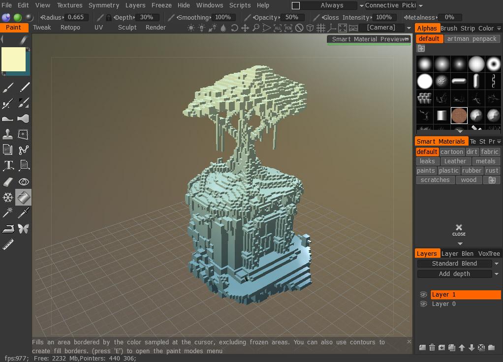 3d coat 4.8 crear modelo 3d esculturas 3d voxel