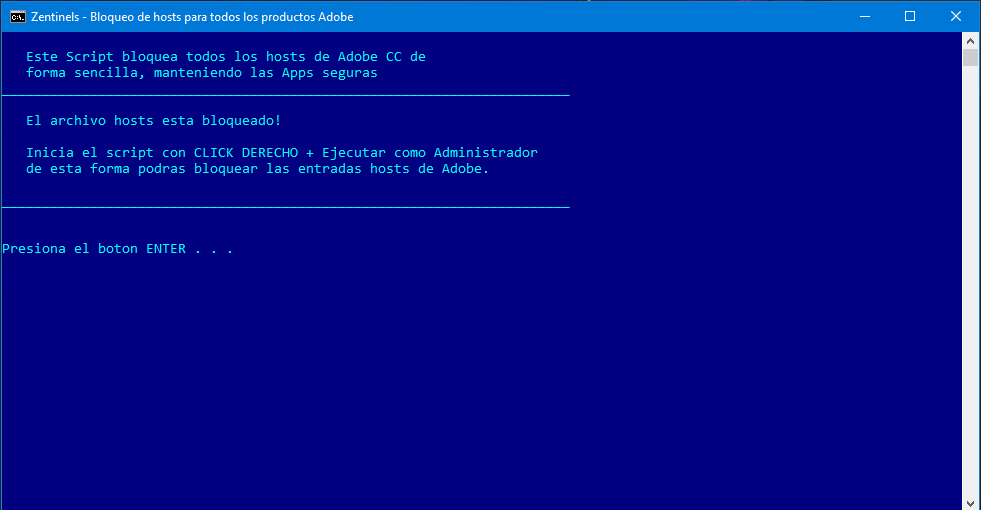 Bloquear hosts adobe