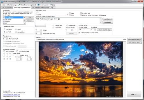 tsr watermark image pro 3.6 full mega - añadir marca de agua a fotos