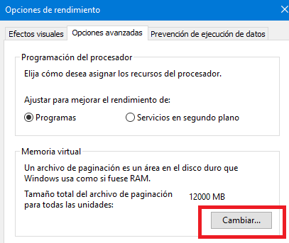 ampliar memoria virtual windows configuracion 3