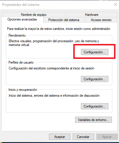 ampliar memoria virtual windows configuracion
