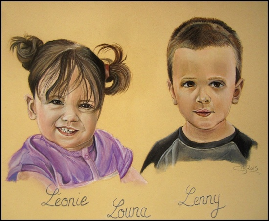 enfants pastels
