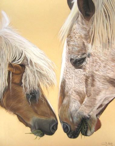 pastel chevaux