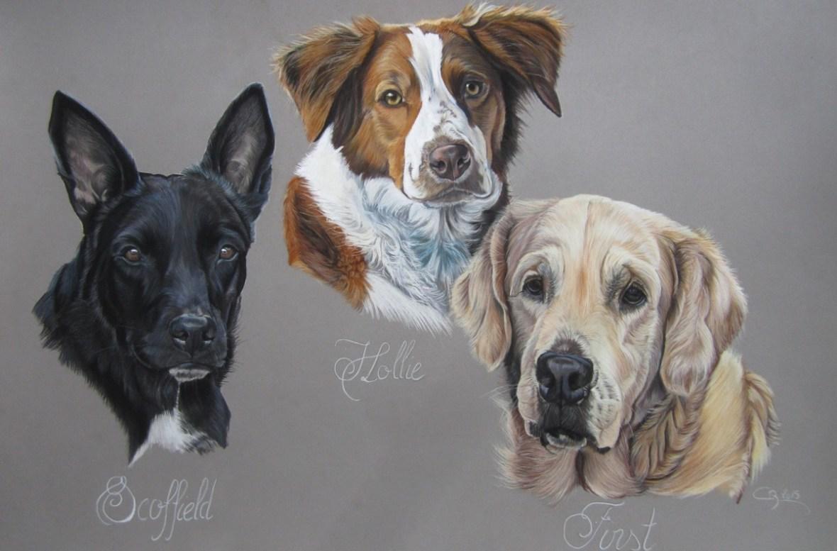 tableau chiens