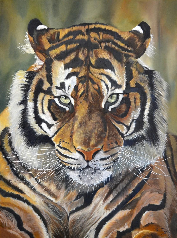 peinture tigre