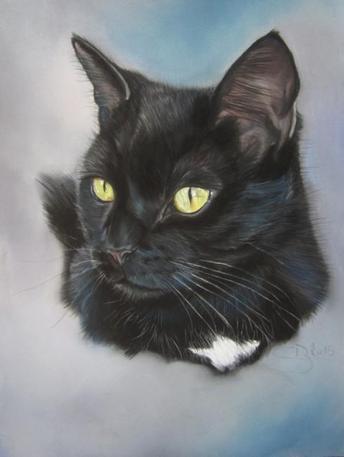 Chat Noir Aux Pastels