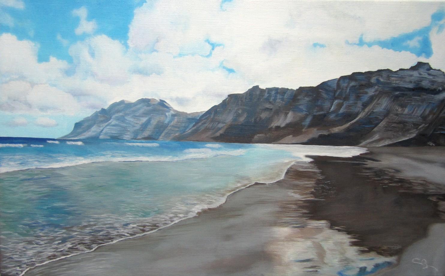 peinture playa famara