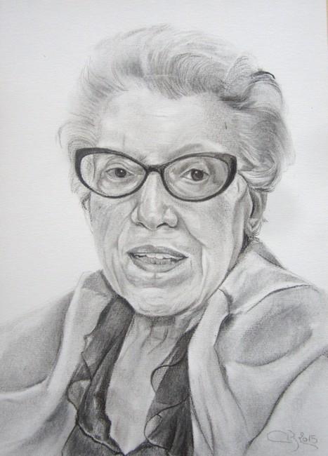 portrait fusain