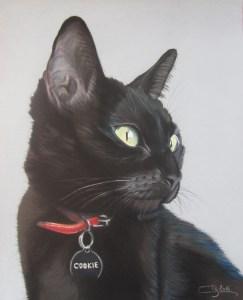 Cours Chat noir (Pastels)