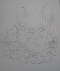 dessin de bouledogue