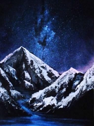 peindre ciel étoilé
