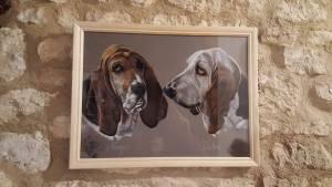 tableau de basset hound