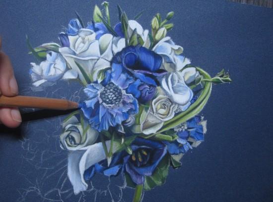 bouquet de fleurs pastels