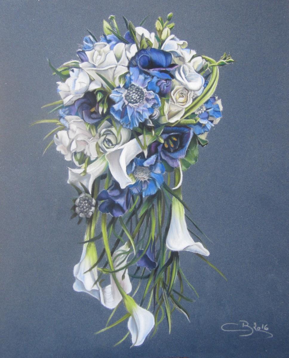bouquet fleurs pastels secs