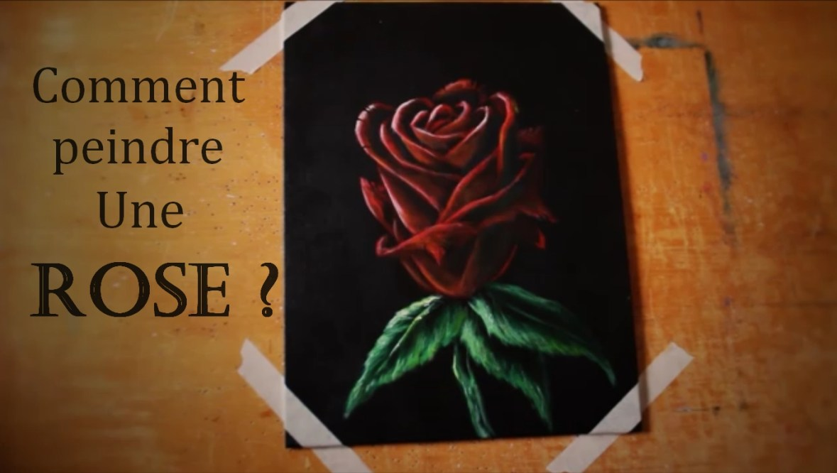 comment peindre une rose d buter la peinture. Black Bedroom Furniture Sets. Home Design Ideas